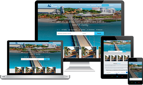 Broome Tourism displayed beautifully on multiple devices