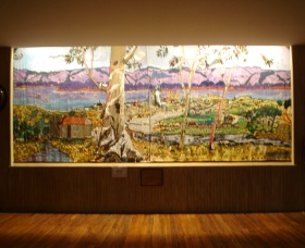 Adaminaby Memorial Hall Stage Curtain - Broome Tourism