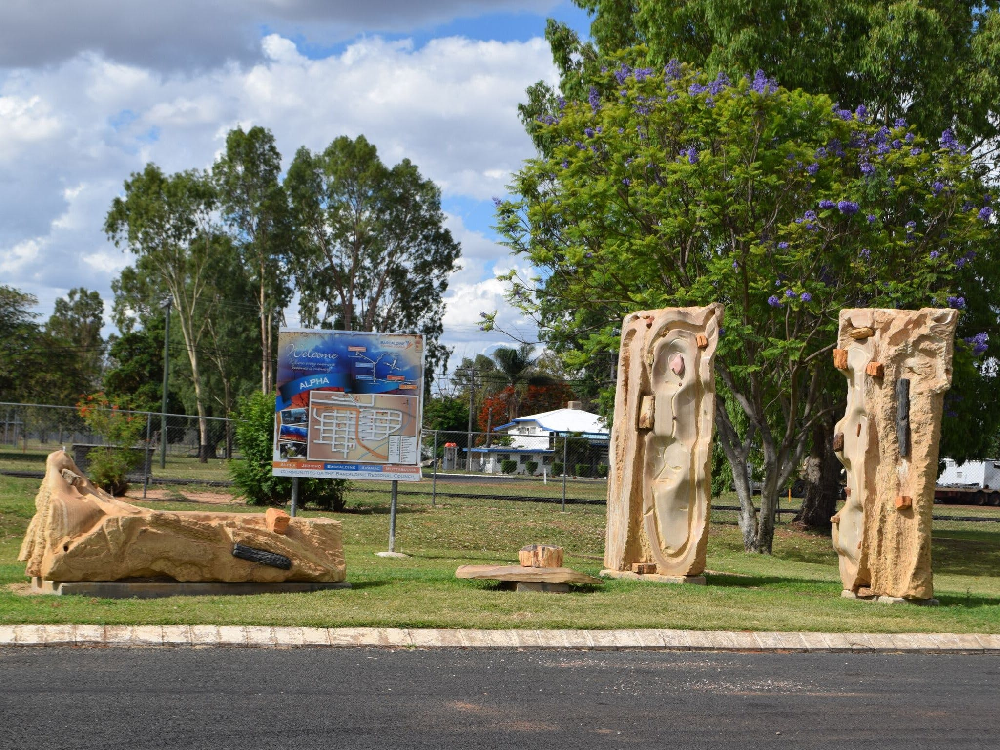 The Fossilised Forest Sculpture - Broome Tourism