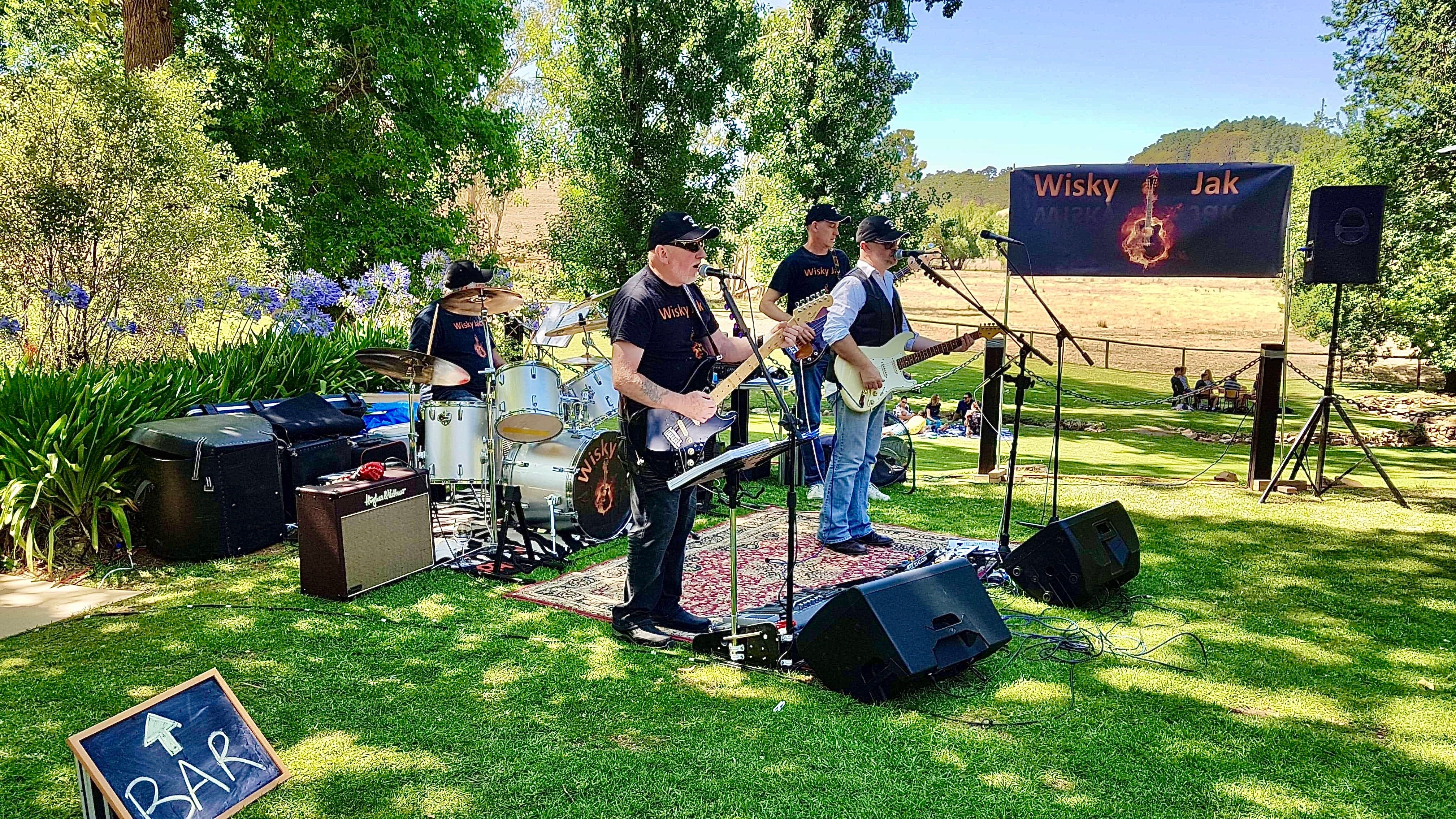 Angas Plains Wines Live in the Vines with the band -Wisky Jak - Broome Tourism