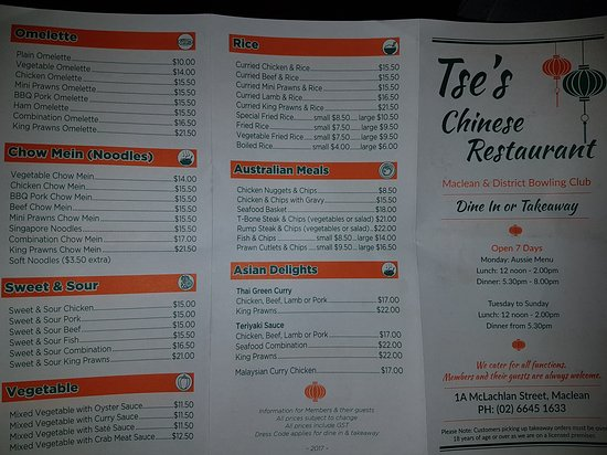 Tse's Restaurant - Broome Tourism